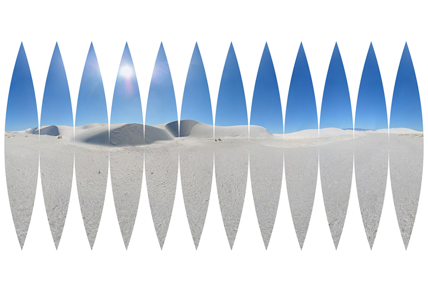 White Sands Interrupted Sinusoidal Projection